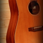 Folk Guitare Dreadnought acajou