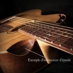 échancrure guitare luthier artisan